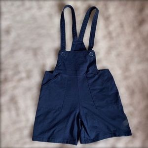 American Apparel pinafore overall shorts